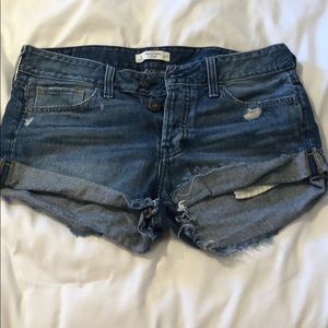 Abercrombie and Fitch distressed boyfriend shorts